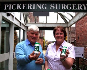 "More than 1,500 patients at Pickering and Thornton Dale Surgery have snapped up the offer of a life-saving ""Message in a Bottle"" provided free by Ryedale Lions. The plastic bottles, kept handily in the kitchen fridge, provide a unique way for vulnerable people to store vital personal information about their health, regular medicines, and emergency contacts"