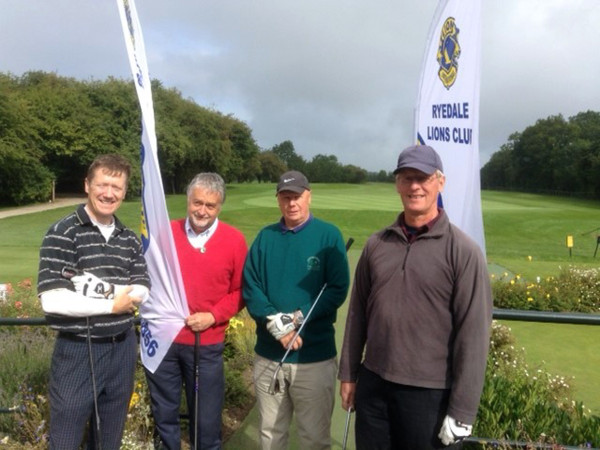 Kirkbymoorside Golf Club members at the Ryedale Lions Golf Day (left to right) Mike Anderson, David Tomlinson, Geoff Sherwin and Roland Sterry.