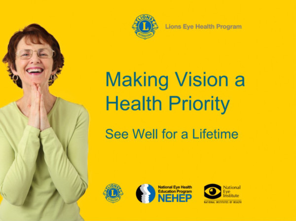 Click on the photo to see a PowerPoint presentation about the work of Lions Sight Savers