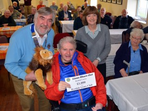 £1,000 is on the Farmers Breakfast menu as Lions President Jim Ingham (left) shares the good news with club member Roy Rimmington and Annette Major, Deputy Manager at Ryedale Carers Support.